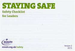 Staying Safe - Safety checklist for leaders - £0.00